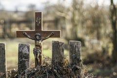 Jezus krzyż Zdjęcie Royalty Free
