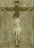 Jezus na krzyżu Zdjęcie Royalty Free
