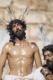 Jezus obdzierał jego szaty, wielkanoc w Seville Zdjęcia Stock
