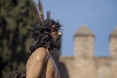 Jezus obdzierał jego szaty, wielkanoc w Seville Obraz Stock