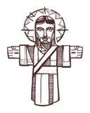 Jezus Otwarte ręki ilustracji