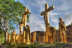 Jezus przy krzyżem Zdjęcie Stock