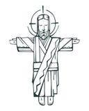 Jezus ręk Otwarty b ilustracja wektor