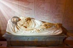 Jezus w Notre Damae De losie angeles Garde obraz royalty free