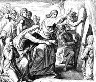 Jezus wezwania Lazarus zdjęcie stock