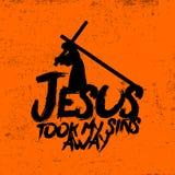 Jezus wziąć mój grzechy daleko od royalty ilustracja