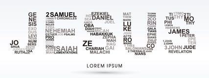 Jezus z biblią formułuje genezę objawienie ilustracja wektor