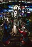 Jezusem kościoła okno Obrazy Royalty Free