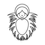Jezusowy dziecko żłobu charakter Obraz Stock