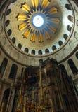 Jezusowy grobowiec wśrodku kościół Święty Sepulchre, Jerozolima Fotografia Stock