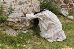 Jezusowy modlenie w rozpaczu przy Ghetsemane Zdjęcie Royalty Free