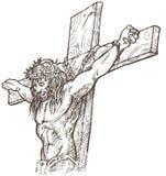 Jezusowy ręka remis Obraz Royalty Free