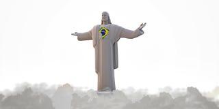 Jezusowy redemeer ilustracja wektor