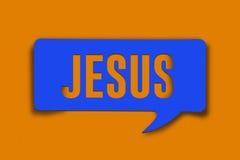 Jezusowy słowo bąbel fotografia stock