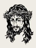 Jezusowy Stawia czoło nakreślenie rysunek, sztuka wektorowy projekt Zdjęcia Royalty Free
