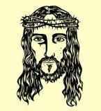 Jezusowy Stawia czoło nakreślenie, sztuka wektorowy projekt Fotografia Royalty Free