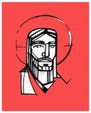 Jezusowy Stawia czoło d ilustracja wektor