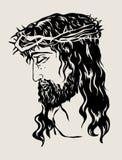 Jezusowy Stawia czoło, sztuka wektorowy projekt Obraz Stock
