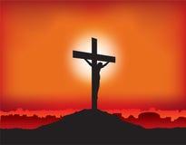 Jezusowy ukrzyżowany na krzyżu Fotografia Royalty Free