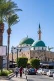 Jezzar巴夏清真寺在Akko,以色列 免版税库存照片