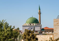 The Jezzar Pasha Mosque in Akko, Israel Stock Photo