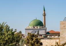 Jezzaren Pasha Mosque i Akko, Israel arkivfoto