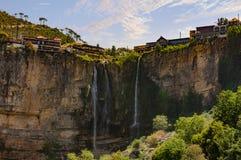 Jezzine kształtuje teren skyle pejzażu miejskiego południe Liban Obraz Royalty Free