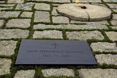 JFK墓碑  免版税库存照片