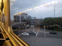 JFK as seen from Airtrain royalty free stock photo