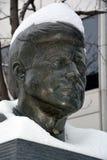 JFK-Bronzestatue Stockbilder