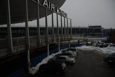 JFK Flughafen nach einem Sturm Stockfotos