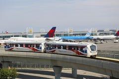 JFK-flygplats AirTrain i New York Arkivbild