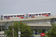 JFK-flygplats AirTrain i New York Royaltyfria Foton