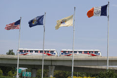 JFK-flygplats AirTrain i New York Royaltyfri Bild