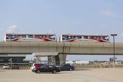 JFK-flygplats AirTrain i New York Fotografering för Bildbyråer