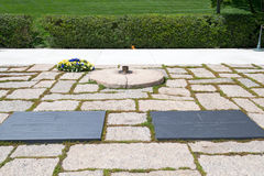 JFK grave in Arlington national Cemetery Royalty Free Stock Images