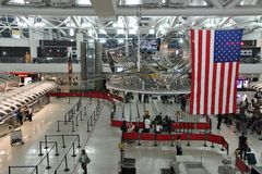 JFK lotniskowy terminal Obraz Royalty Free
