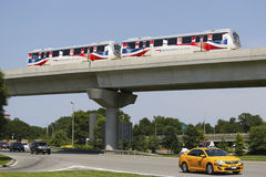 JFK-Luchthaven AirTrain in New York Stock Foto's