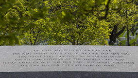 JFK Memorial Inscription Stock Images