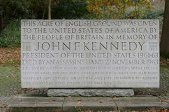 JFK Memorial n Runnymede Royalty Free Stock Photo