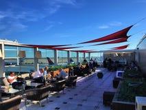 JFK Skyclub Terrace royalty free stock photo