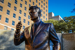 JFK Tribute. Bronze statue of President John F. Kennedy in Fort Worth, Texas commemorating his last day on earth Royalty Free Stock Image