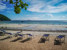 Jhakhrapong-Punkt (Ende von Tham Pang Point) berühmter Strand bei Sich Lizenzfreie Stockfotografie