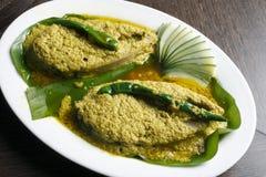 jhal Elisher的tela –孟加拉鱼宴 免版税库存图片