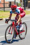 Jhanaton Restrepo breaking away on the Tour Down Under Stage 3 1 royalty free stock image