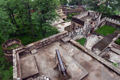 Jhansi Fort -Artillery Royalty Free Stock Photo
