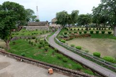 Jhansi Fort Central Garden. The Jhansi fort is situated in the outskirts of Jhansi in Uttar Pradesh. It was Built in the year 1613 by Raja Bir Singh Deo of Stock Images