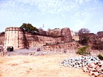 Jhansi Fort. This Jhansi Fort is a fortress situated on a large hilltop called Bangira, in Uttar Pradesh, Northern India is belong to Queen Laxmi Bai stock photo