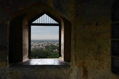 Jhansi Fort Window Royalty Free Stock Image