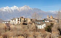 Jharkot by royaltyfri foto